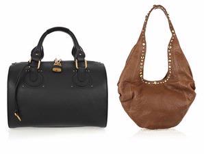 Duffle bag (kiri) dan Hobo Bag (kanan)